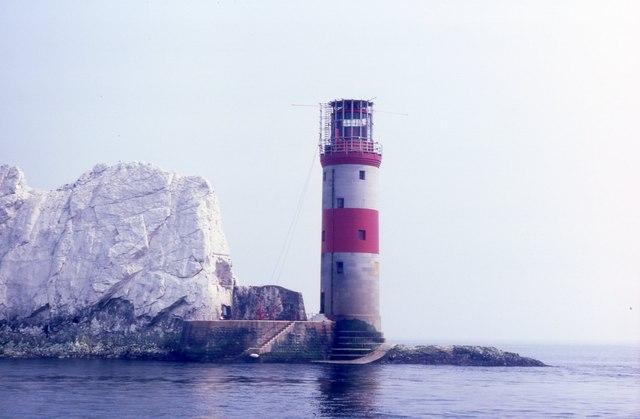 Image result for fog lighthouse  needles
