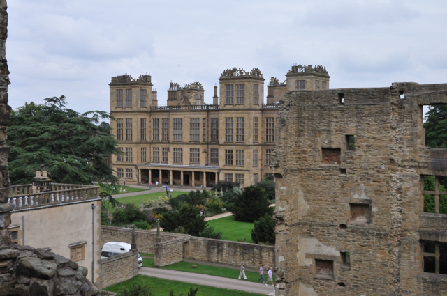 Hardwick hall then and now
